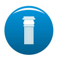 Stone column icon blue vector