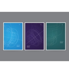 Technology flyer design vector