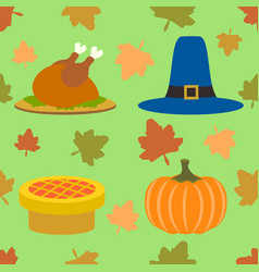 Thanksgiving day seamless background vector