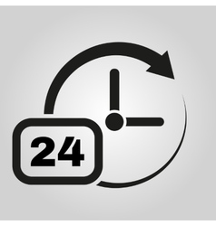 Time icon time and watch timer 24 hours symbol vector