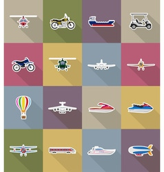 transport flat icons 78 vector image vector image