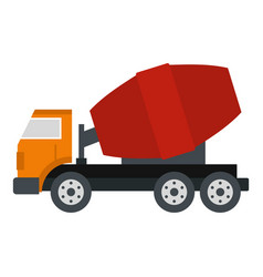 Truck concrete mixer icon isolated vector