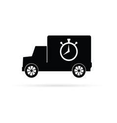truck with a stopwatch vector image vector image