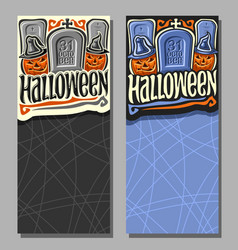 vertical banners for halloween vector image vector image