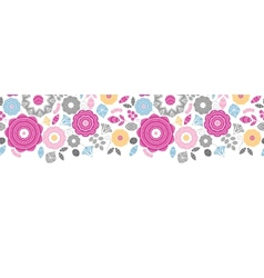 Vibrant floral scaterred horizontal seamless vector image vector image