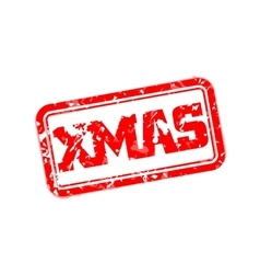 Xmas rubber stamp vector