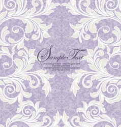 Damask wedding invitation vector