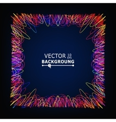 Moving colorful lines glowing abstract vector