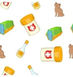 Kitty pattern cartoon style vector