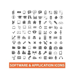 Software application icons set vector