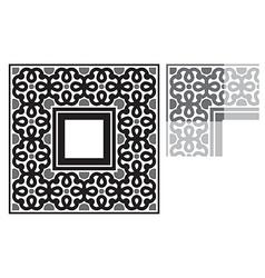 Floral frame ornament vector image
