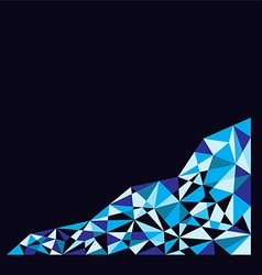 Blue polygon background on bottom vector