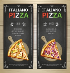 Set of pizza menu banners vector