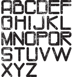 alphabet grunge vector image