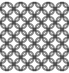 Monochrome seamless curved pattern vector