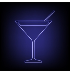 neon effect icon vector image