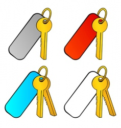 Key with charm vector