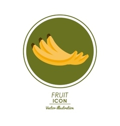 Banana icon healthy food design graphic vector