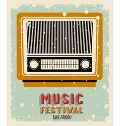 Old radio poster isolated icon design vector