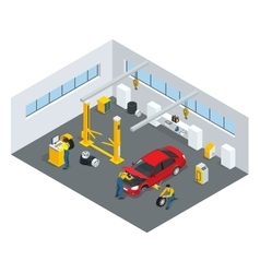 Auto mechanic service Service station Flat icons vector image vector image