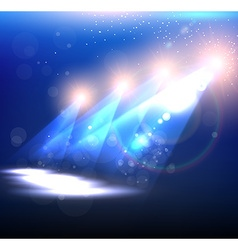 Blue spotlight background vector