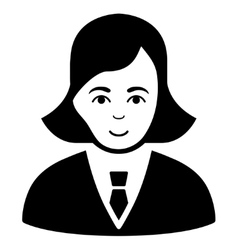 Business lady flat icon vector