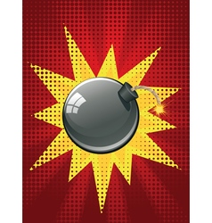 Cartoon Black Bomb3 vector image