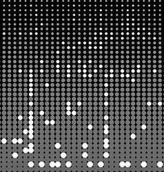 Circles abstract background monochrome vector image vector image