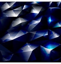 Dark polygonal abstract background vector image vector image