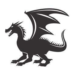 Dragon animal cartoon design vector