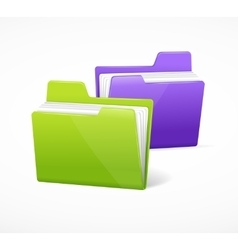 File Folder Colorful Set vector image vector image