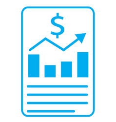 financial report icon on white background vector image
