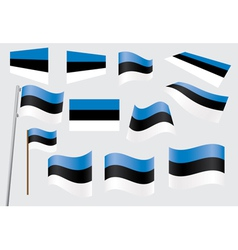 flag of Estonia vector image vector image