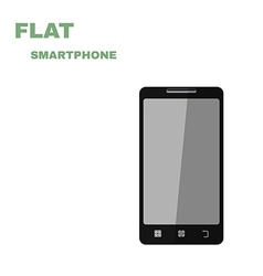 Flat Smartphone isolated on white vector image vector image