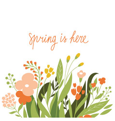 Floral with place for text vector