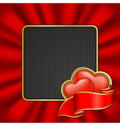frame on valentines day vector image vector image