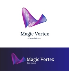 Gradient vortex logo blue and violet vector