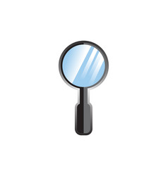 magnifiying glass vector image