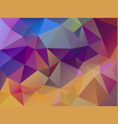 Multi colored polygon background vector