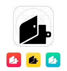 Open wallet icon vector