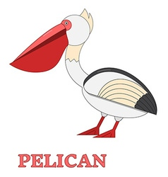 Pelican Flat Linear icon vector image vector image