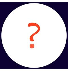 Question computer symbol vector image vector image