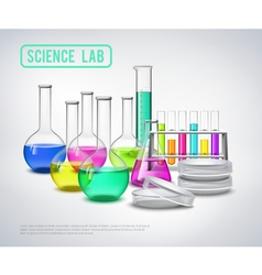 Research equipment liquids composition vector