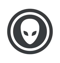 Round black alien sign vector