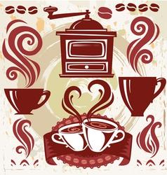 symbols coffee vector image vector image