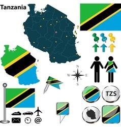 Tanzania map vector image