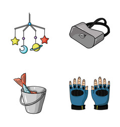 Technology fishing and other web icon in cartoon vector