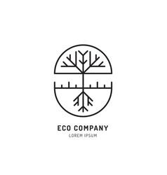 tree holistic eco logo vector image vector image