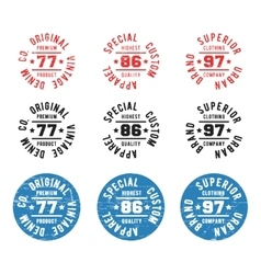 Vintage circle stamp vector image vector image