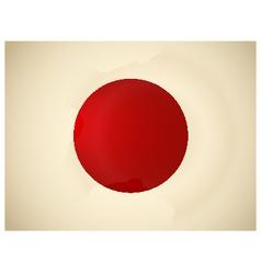 Vintage Japan Flag vector image